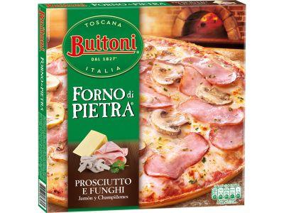 BUITONI FORNO DI PIETRA Prosciutto & Funghi (Jambon-Champignons)