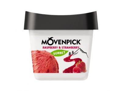 MÖVENPICK Délices de fruit Raspberry & Strawberry 16 x 165ml