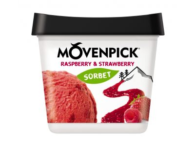 Mövenpick Délices de fruit Raspberry & Strawberry 4 x 900ml