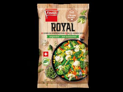 FINDUS Gemüsemix Royal, ungewürzt 8 x 600g