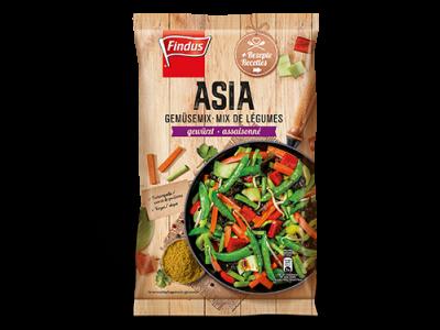 FINDUS Gemüsemix Asia, fixfertig 8 x 600g