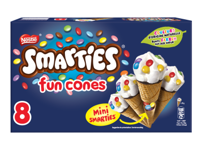 SMARTIES Fun Cones 8 x 70ml