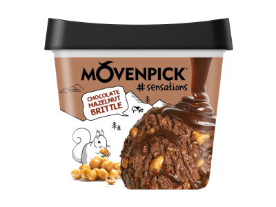 MÖVENPICK Chocolate Hazelnut Brittle 4 x 900ml