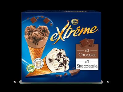 EXTRÊME Classic Stracciatella/Chocolat 4 x (6 x 145ml)