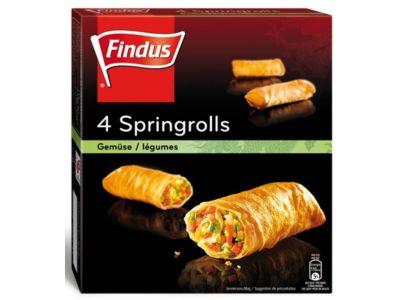 FINDUS Frühlingsrollen Gemüse 12 x (4 x 47g)