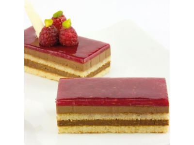 Dessert Himbeer Schoko-Croquant