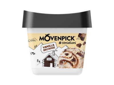MÖVENPICK Sensations Vanilla Brownie 16 x 165ml