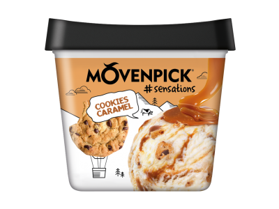 MÖVENPICK #sensations Cookies & Caramel 4 x 900ml