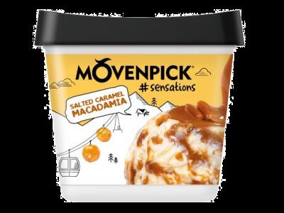 MÖVENPICK #sensations Salted Caramel Macadamia  4 x 900ml