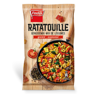 FINDUS Gemüsemix Ratatouille, fixfertig 8 x 600g