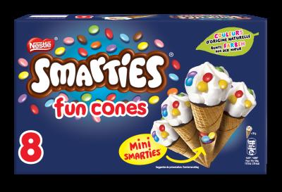 SMARTIES Fun Cones 8 x 70ml