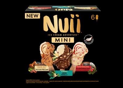 NUII Mini Assorted Texan Pecan/Milk Choc Java Almond/White Cranberry MP 6 x 55ml