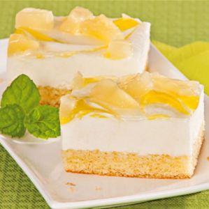 Gâteau à l'ananas et au fromage blanc sans gluten et sans lactose  6 x 1100g