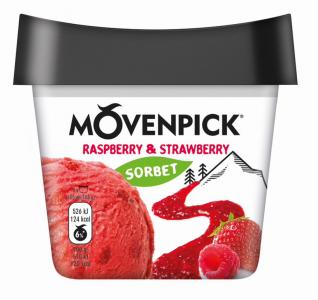 MÖVENPICK Délices de fruit Raspberry & Strawberry 16 x 165ml